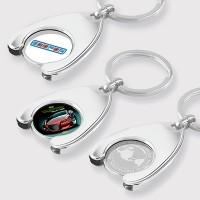 Trolley Coin Wishbone Keyring