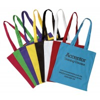 Coloured Cotton Shopper Bags Printed