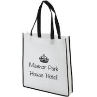 Contrast SHopper Bags Printed Branded