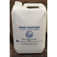 75% Alcohol Hand Sanitising Gel  5 Litres